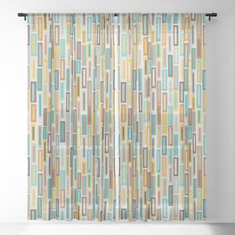 Tall Rectangles Sheer Curtain