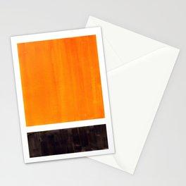 Minimalist Mid Century Modern Color Block Pop Art Rothko Inspired Golden Yellow Black Squares Stationery Cards