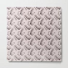 Romantic roses - Sepia Metal Print