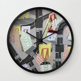 showville - urban living Wall Clock