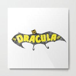 Retro Vintage Dracula Metal Print