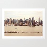 nyc Art Prints featuring NYC by Enkel Dika