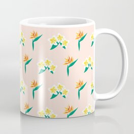 Frangipanis and Bird of Paradise Flowers Coffee Mug