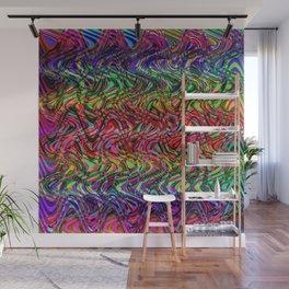Waving Neon Wall Mural