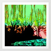 The Wood is on fire Art Print
