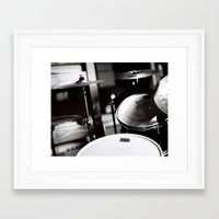 drums Framed Art Prints featuring Drums by TomP