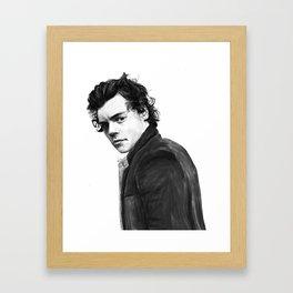 Harry Styles Painting Framed Art Print