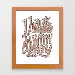 Thank God Framed Art Print