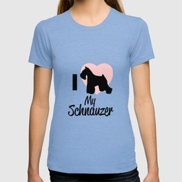 I Love My Schnauzer Gift T-shirt