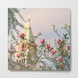 Magnolia Campanile Spring Venice Italy Travel Photography Metal Print