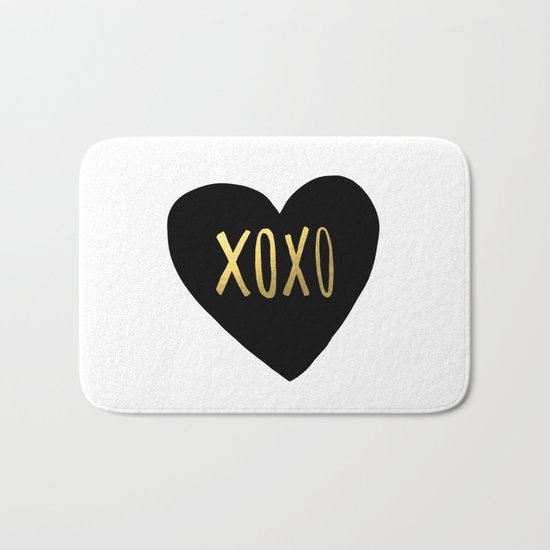 XOXO x Gold Bath Mat