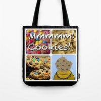 cookies Tote Bags featuring Cookies by Jolly Songbird