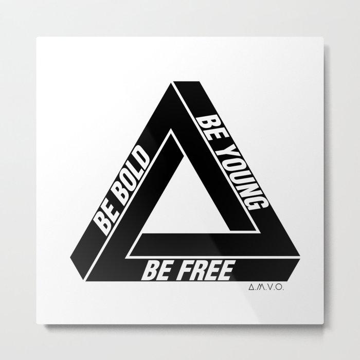 Penrose Triangle Metal Print