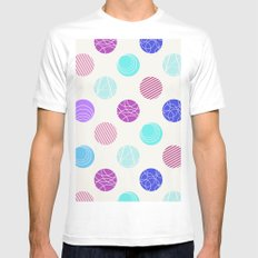 Calm Spots MEDIUM Mens Fitted Tee White
