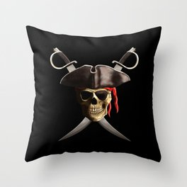 Pirate Skull And Swords Throw Pillow