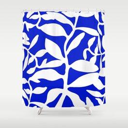 blue stem Shower Curtain