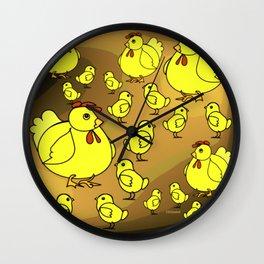 """Hens And Chicks"" Wall Clock"
