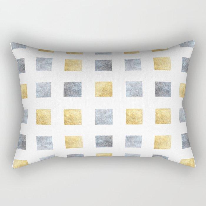 Metallic mosaic Rectangular Pillow