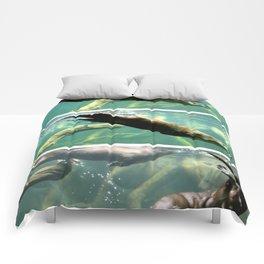Otter Swim Triptych Comforters