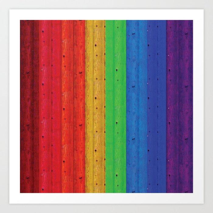 Colours Of The Rainbow Art Print