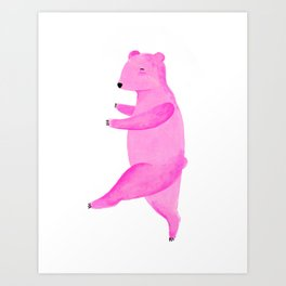 Dancing Bear №1 Art Print