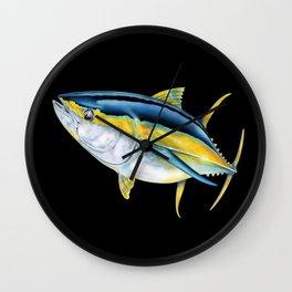 Yellowfin Tuna Wall Clock