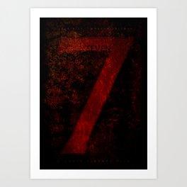 'Se7en' film poster Art Print