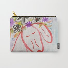 minimal dog watercolor Carry-All Pouch