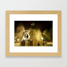 Montreal Fontain Framed Art Print