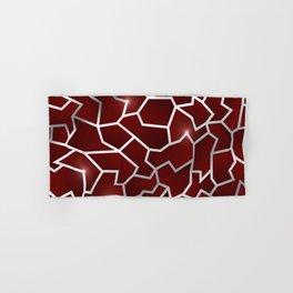 Red Origin - Red Silver Crag Pattern Hand & Bath Towel