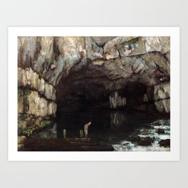 Gustave Courbet The Cave of the Loue Art Print