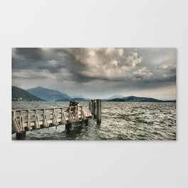 Steg in den Sturm Canvas Print