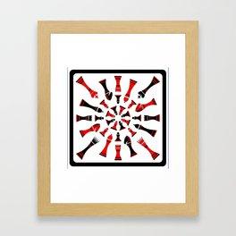 Red/Black Chessmen Framed Art Print