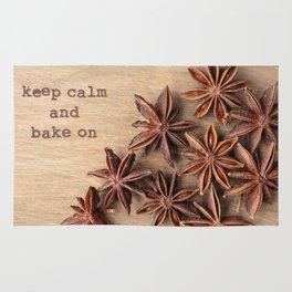 Keep Calm and Bake On Rug