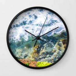 Clear Water Cliffside Wall Clock