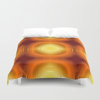 70s Duvet Covers featuring Flashy 70s,effect,red by MehrFarbeimLeben