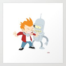 Futurama Friends Art Print