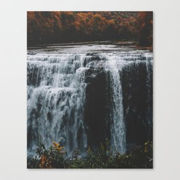 Water in Fall Canvas Print