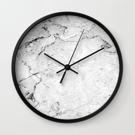 Marble texture Dark Gray Wall Clock
