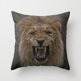 beware of the cat Throw Pillow