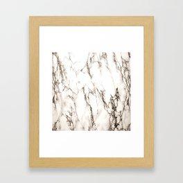 Brown Veined Marble Framed Art Print
