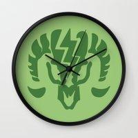 bioshock infinite Wall Clocks featuring Bioshock Infinite Vigors - Charge by GunnerGrump