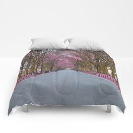 Pink Mall Promenade Comforters