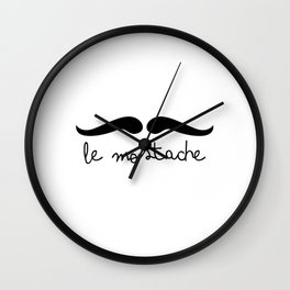 Le Mostache Wall Clock