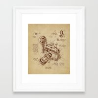 brown Framed Art Prints featuring Moment Catcher by Enkel Dika