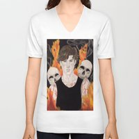 stephen king V-neck T-shirts featuring Stephen by Alice Rachel
