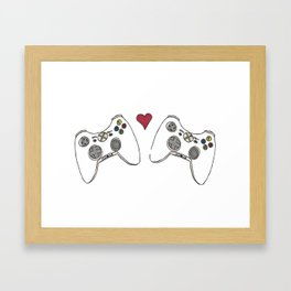 XBOX LOVE Framed Art Print