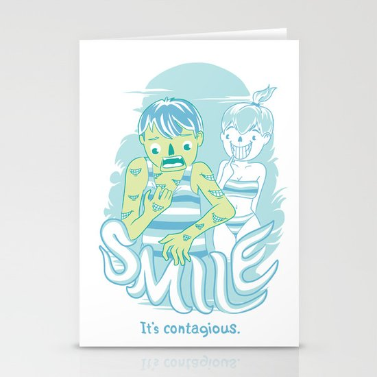 Smile It's contagious :D Stationery Cards