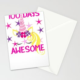 100 Days Awesome 100th Day of School Stationery Cards