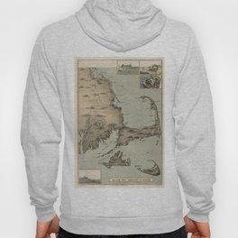 Vintage Map of Cape Cod (1885) Hoody